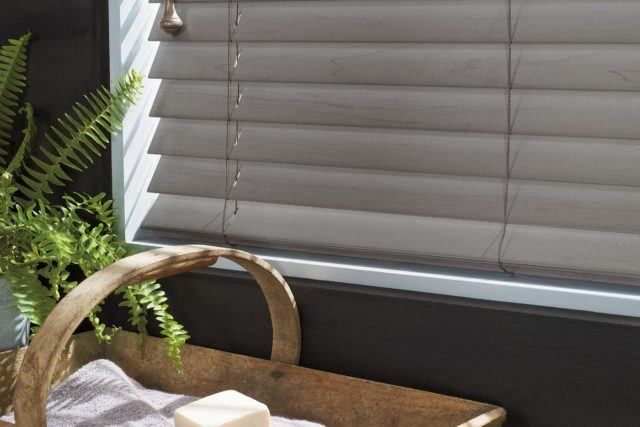 close up photo of Hunter Douglas horizontal blinds