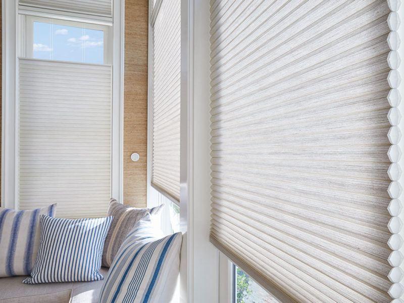Hunter Douglas cellular honeycomb duette blinds