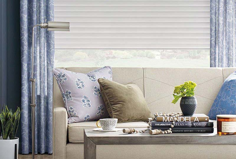 Sonnette™ dotted leaf solar honeycomb blinds