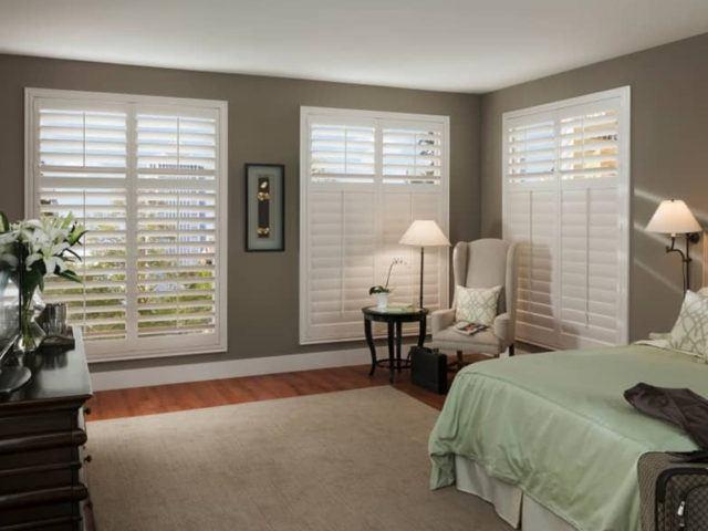 Eclipse Shutters in interior bedroom