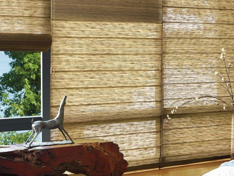 Hunter Douglas woven texture roman blinds
