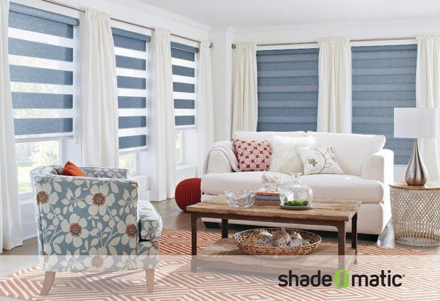 Shade-O-Matic blinds in living room